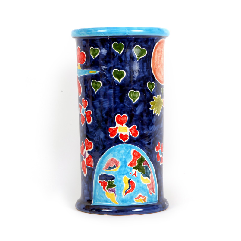 ceramic vase design colection color war conteporary art conteporary artist francesco cuomo