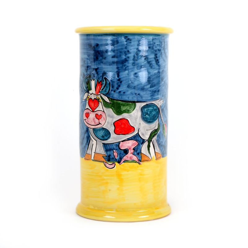 ceramic vase design colection cow conteporary art conteporary artist francesco cuomo