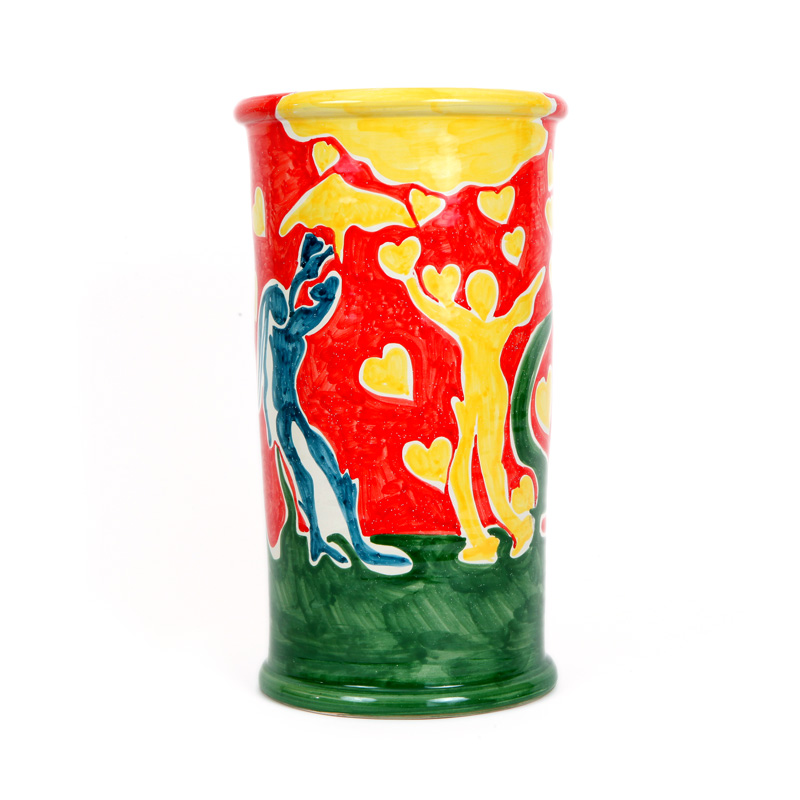 ceramic vase design colection love conteporary art conteporary artist francesco cuomo